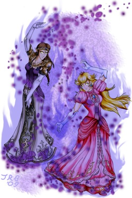 Shadow Peach and Shadow Zelda