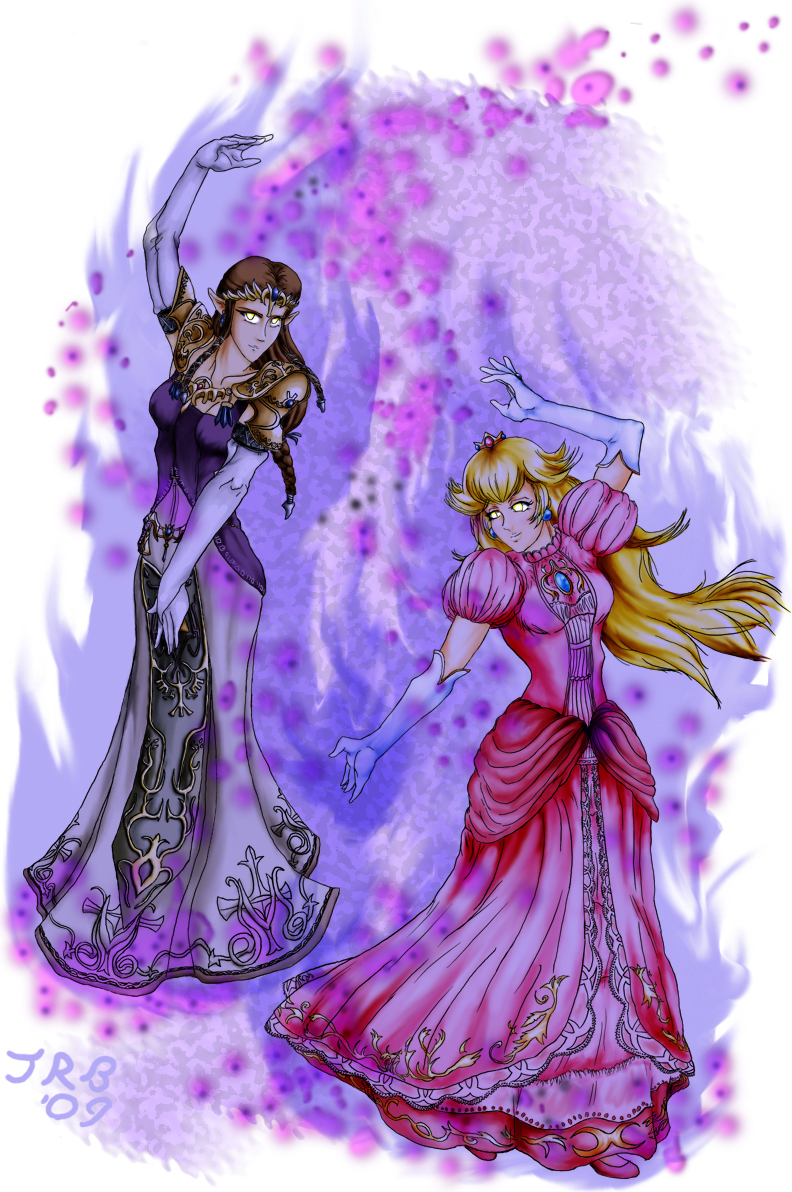 Dark Peach and Zelda Alternate